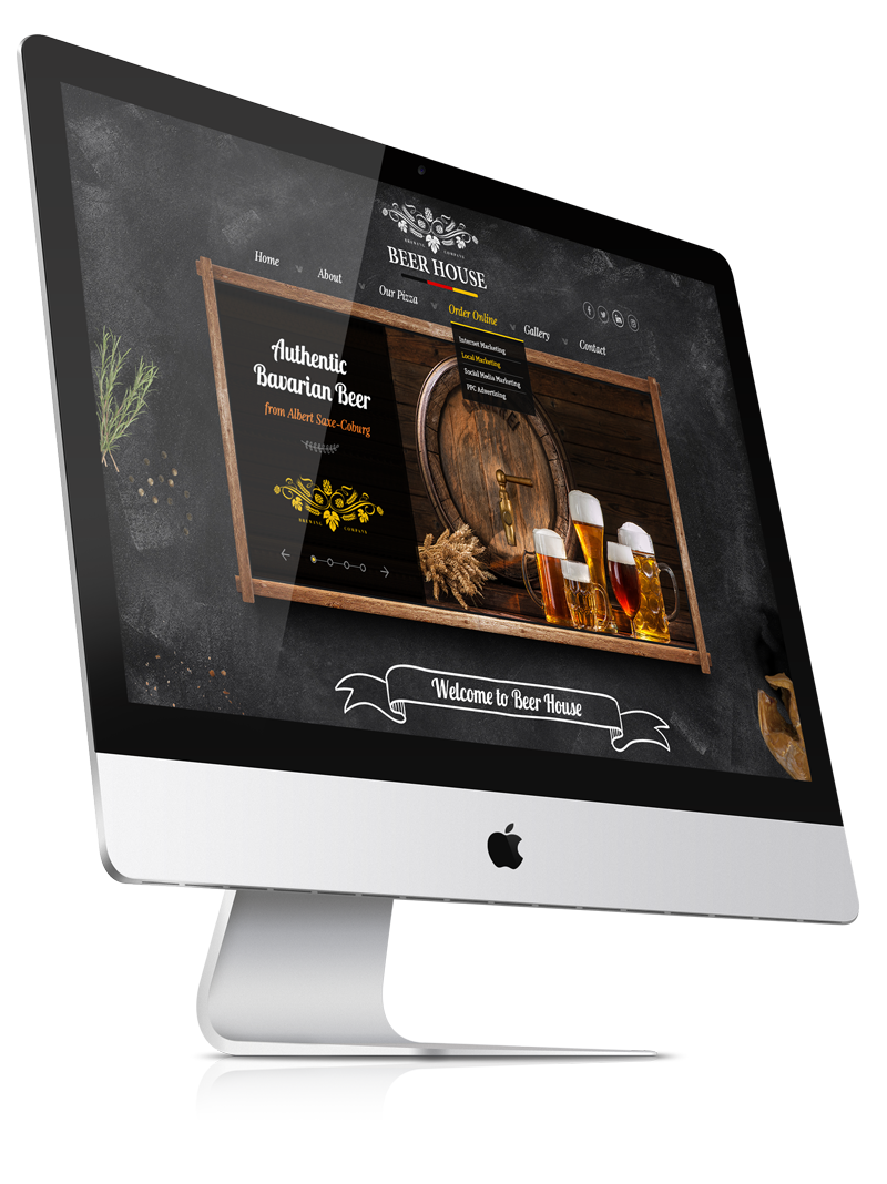 Beer house bootstrap template