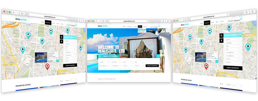 Real estate bootstrap theme