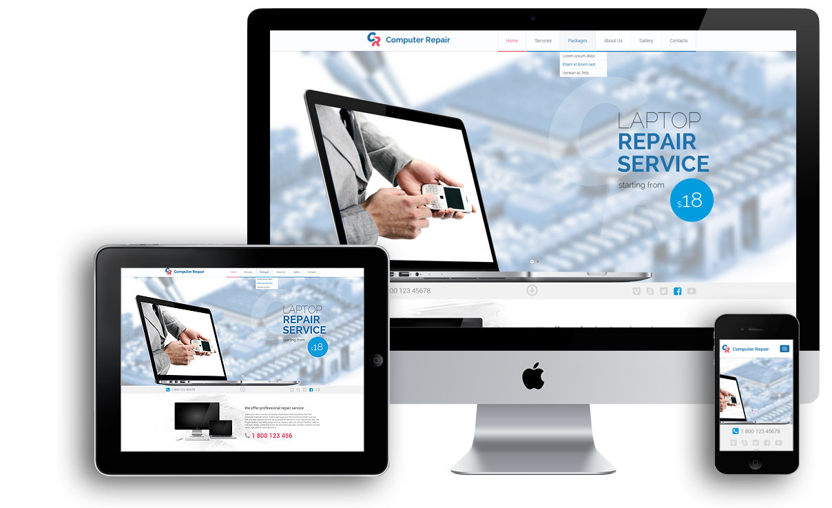 Computer Repair Bootstrap Template Id 300111826 From