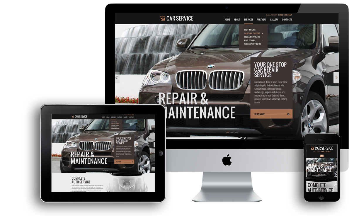 Car service responsive bootstrap template