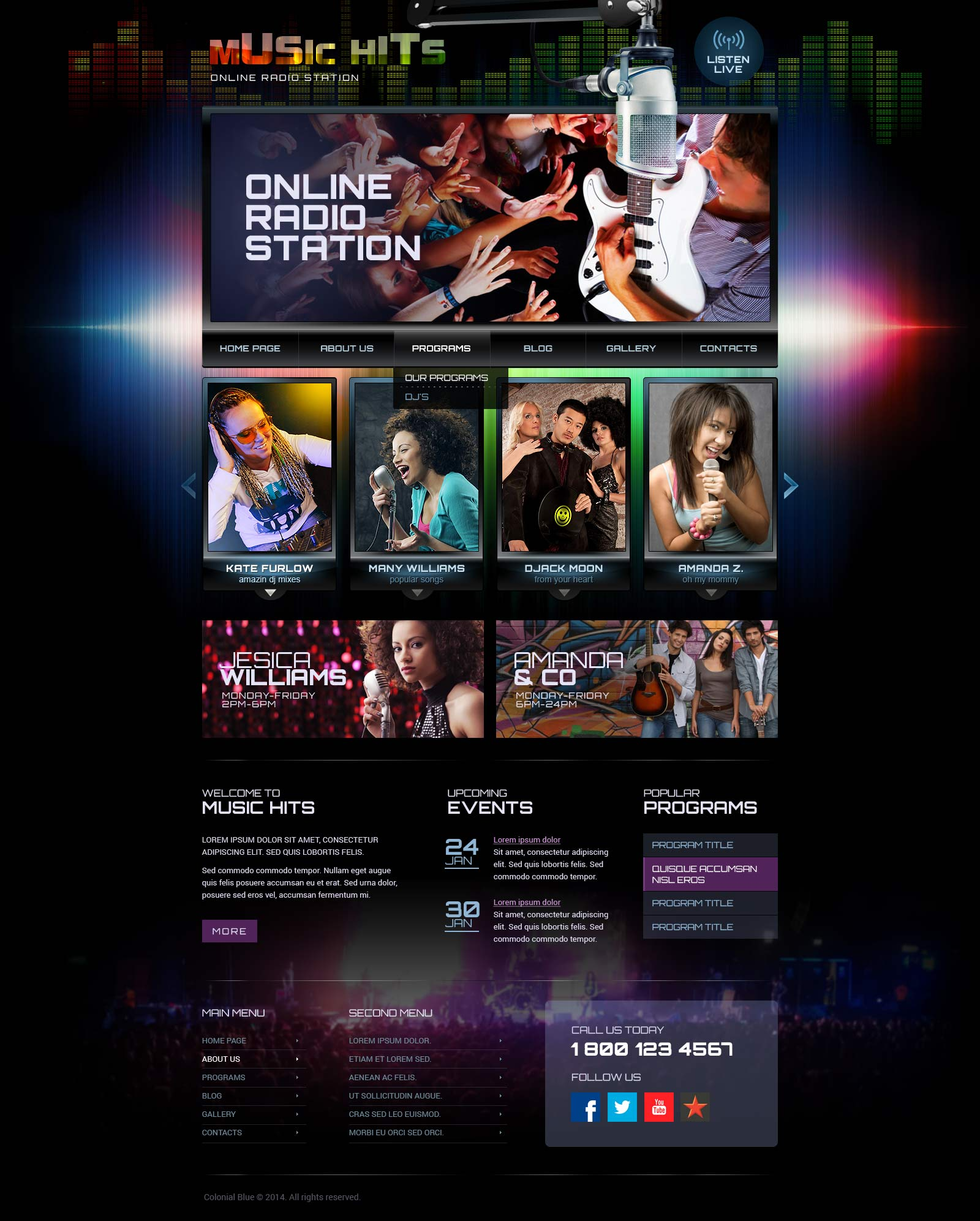 Online Radio Station - Wordpress template ID: 300111825 from ...