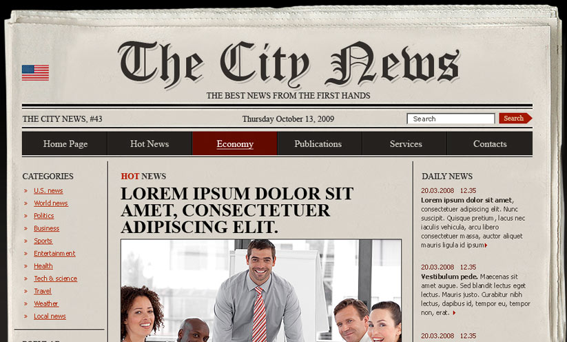 Newspaper Html Template Id 300110478 From Bootstrap Template