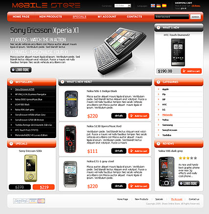mobile store oscommerce id 300110603 from