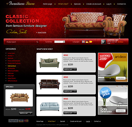 Furniture Store Oscommerce Id 300110611 From Bootstrap