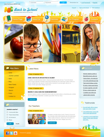Kidsonet responsive kids medical clinic joomla template #67867.