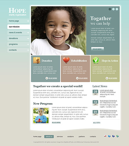 charity hope html template id 300110892 from