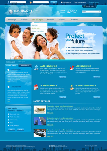 Insurance co. v2.5 - Joomla template ID: 300110955 from bootstrap ...