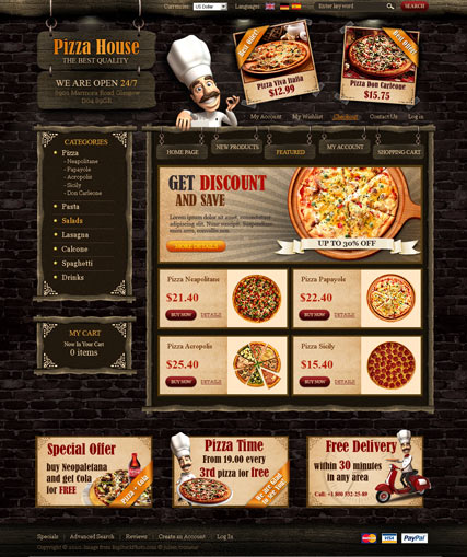 pizza house 2 3ver oscommerce id 300110965 from bootstrap