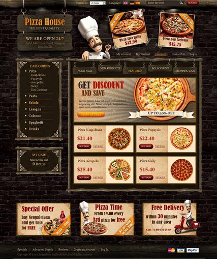 Italian restaurant website template pizza restaurant website.