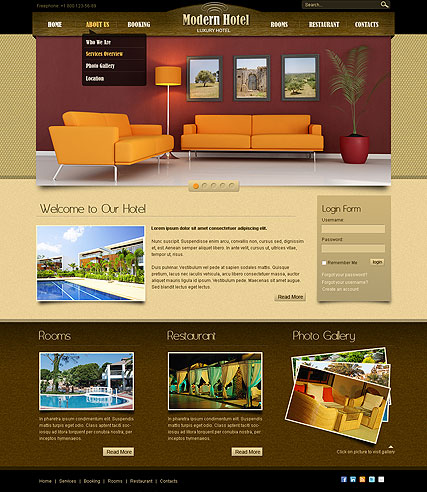 joomla hotel template hotel v2 5 joomla template id 300110995 from bootstrap