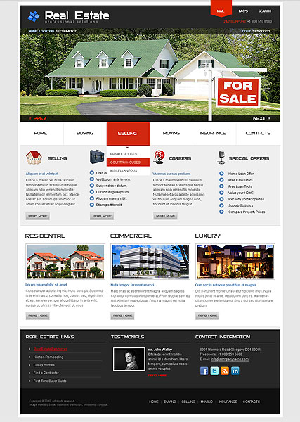 Real Estate HTML Template ID From Bootstraptemplatecom - Real estate investor website templates