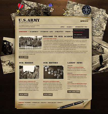 Military Academy - HTML template ID: 300111102 from bootstrap ...
