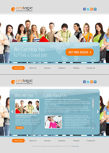 recruiting agency html5 template id 300111118 from bootstrap