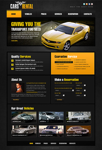 Car Rent HTML template ID:300111180