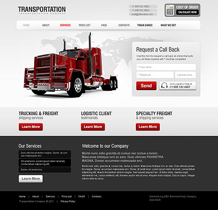 Transportation Html Template Id 300111213 From Bootstrap Template Com