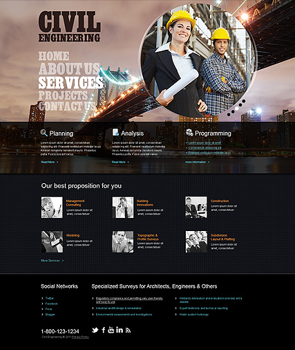 civil engineering html template id 300111239 from bootstrap