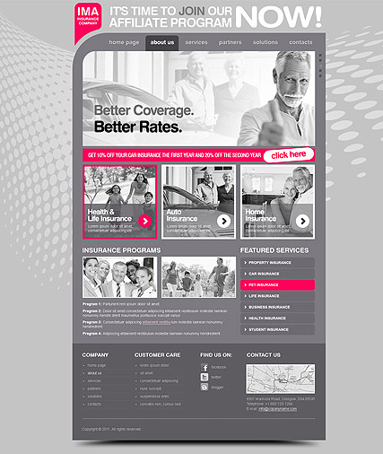 insurance company html template  Insurance Company - HTML template ID: 300111244 from bootstrap ...
