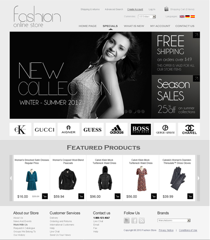 Fashion v2.3 - osCommerce ID: 300111259 from bootstrap-template.com