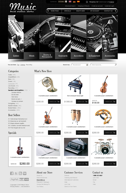 Music instrument v2.3 osCommerce ID:300111260