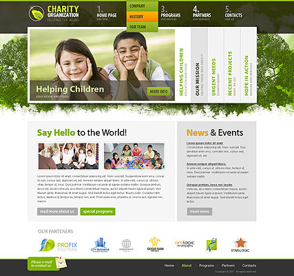 Charity Organization - HTML template ID: 300111279 from bootstrap ...