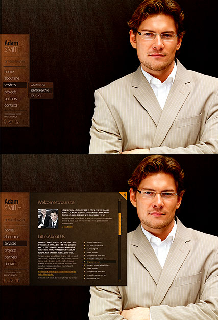 Private Lawyer HTML5 template ID:300111283