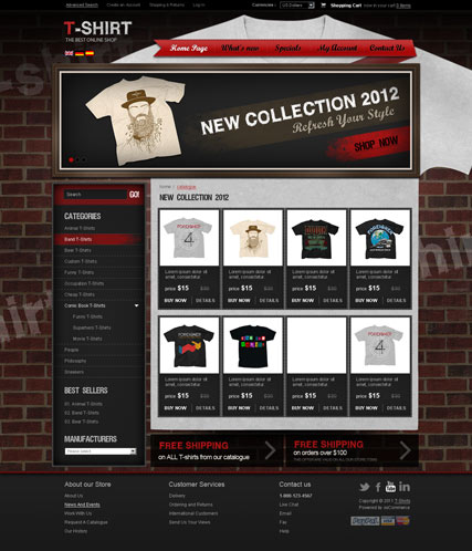 T-shirts v2.3 osCommerce ID:300111285