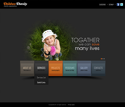 Charity HTML5 template ID:300111291