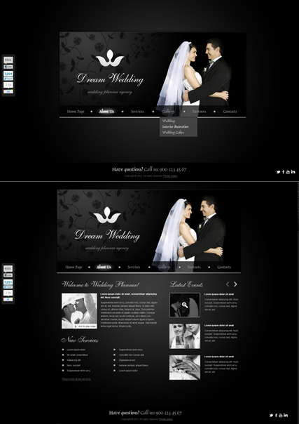 Wedding Planner HTML5 template ID:300111294