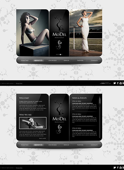 Model Agency HTML5 template ID:300111307