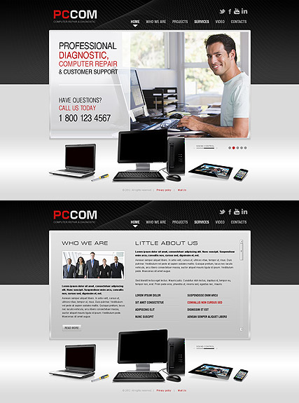 computer repair html5 template id300111313