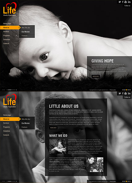 Charity HTML5 template ID:300111327