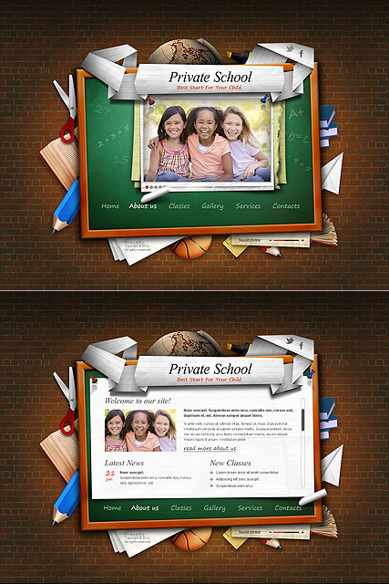 Private School - HTML5 template ID: 300111336 from bootstrap ...