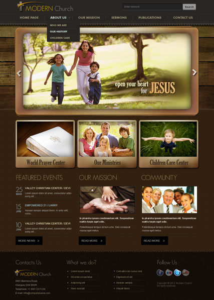 Modern church v25 joomla template id 300111339 from bootstrap modern church v25 joomla template id300111339 maxwellsz