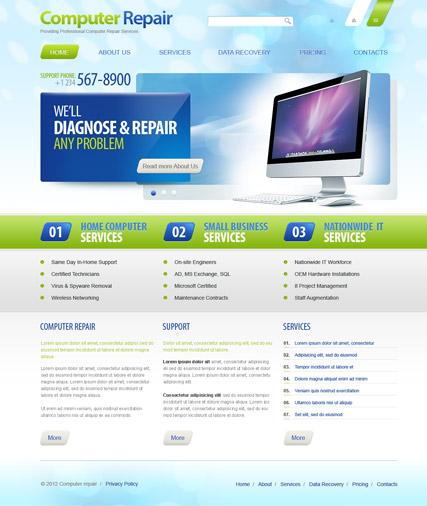 Repair computer, laptop, gadget repair html5 template on behance.