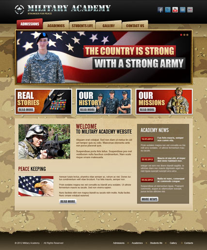 Military Academy v2.5 - Joomla template ID: 300111375 from bootstrap ...