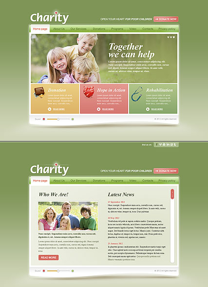 Children Charity HTML5 template ID:300111400