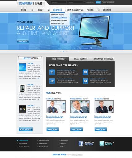 Computer Repair V25 Joomla Template ID300111407