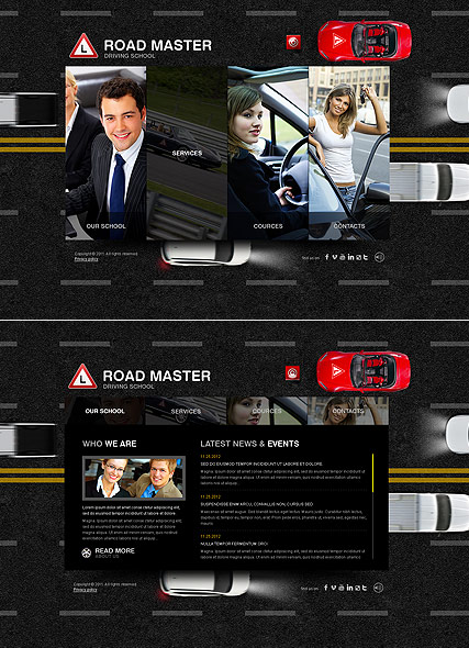 Driving School HTML5 template ID:300111413