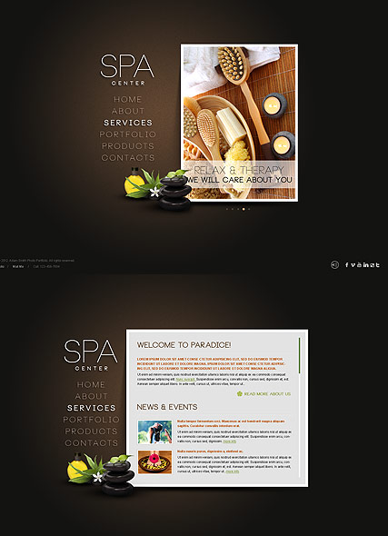spa salon html5 template id 300111415 from