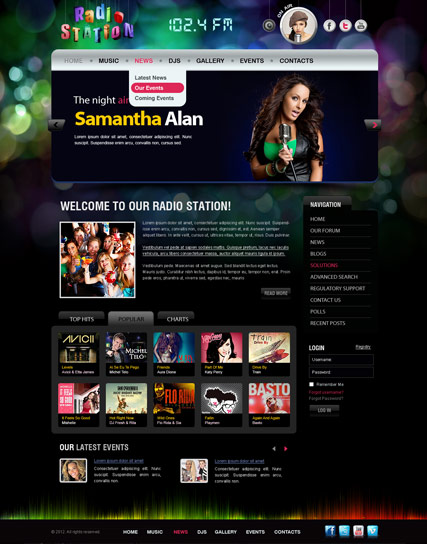 Radio FM v2.5 - Joomla template ID: 300111419 from bootstrap ...