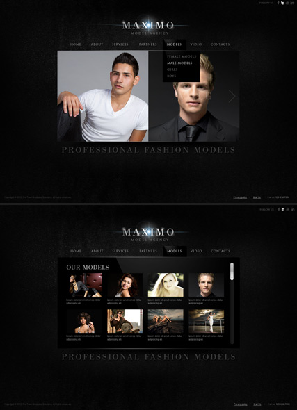 Model Agency HTML5 Gallery Admin ID:300111443