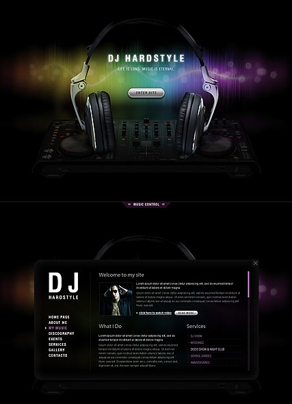 Dj music html5 template id 300111454 from bootstrap for Html5 video player template