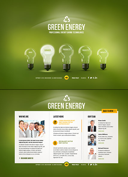 Green Energy HTML5 template ID:300111457