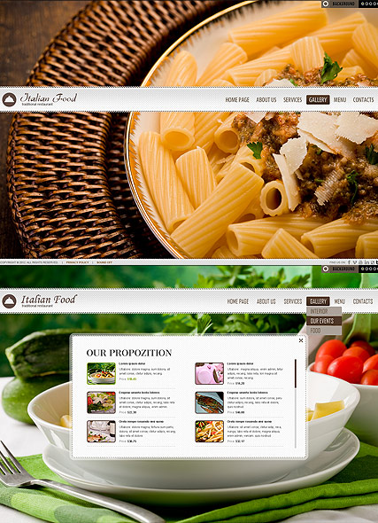 Restaurant - HTML5 template ID: 300111463 from bootstrap-template.com