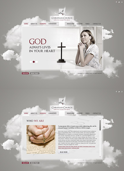 Christian Church HTML5 template ID:300111487