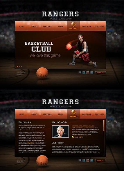 team website template