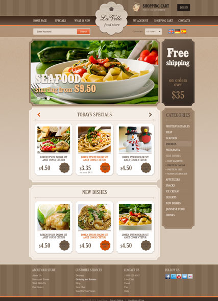 Food Store v2.3 osCommerce ID:300111504