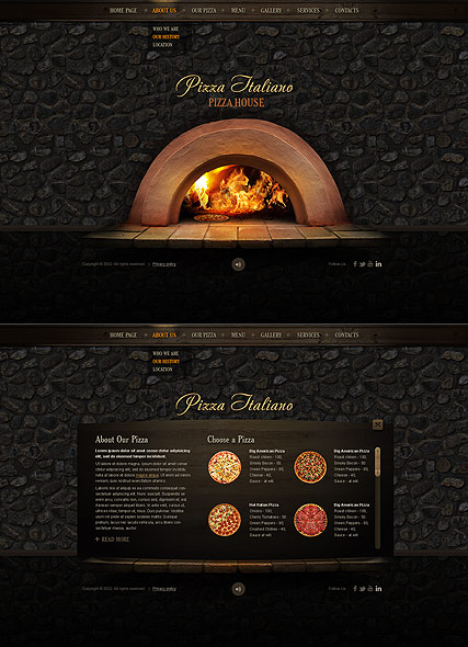 pizza italiano html5 template id 300111508 from bootstrap