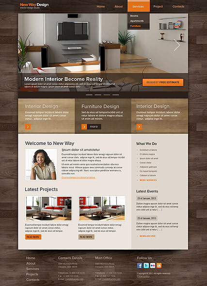 Html web page design & templates development services free | hot.