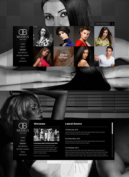 Model Agency HTML5 template ID:300111542